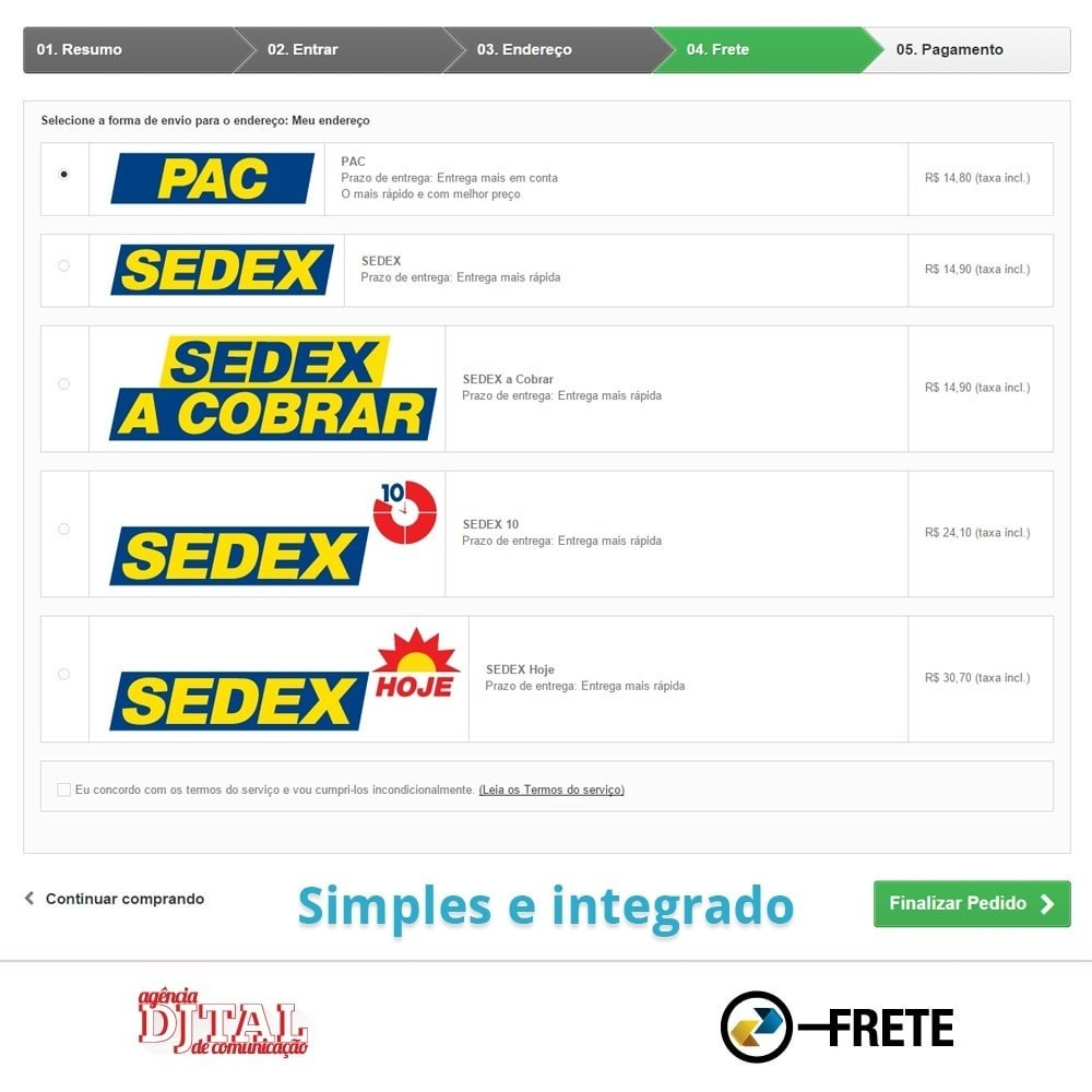 module - Shipping Carriers - Shipping cost calculation by the Brazilian Correios - 4