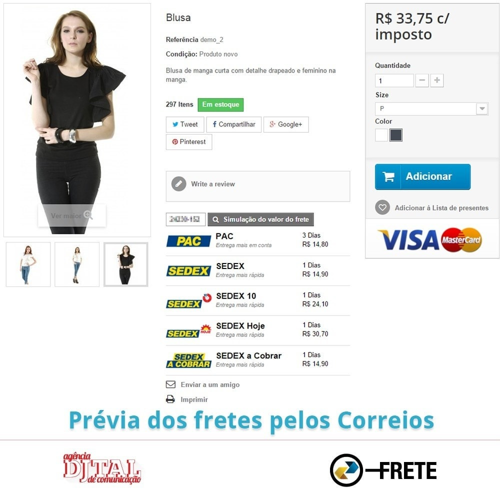 module - Shipping Carriers - Shipping cost calculation by the Brazilian Correios - 5