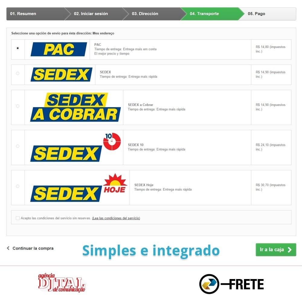 module - Transportistas - Cálculo del flete por los Correios Brasileños - 4