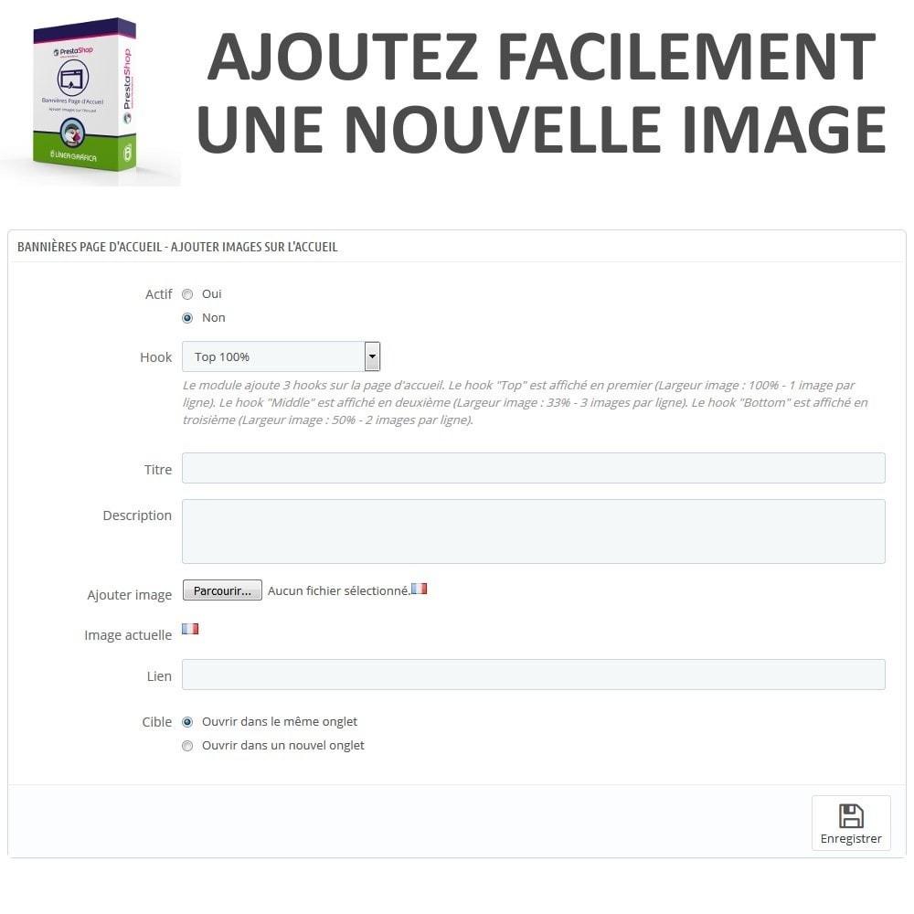 module - Personnalisation de Page - Bannières Page d'Accueil - Ajouter Images sur l'Accueil - 4