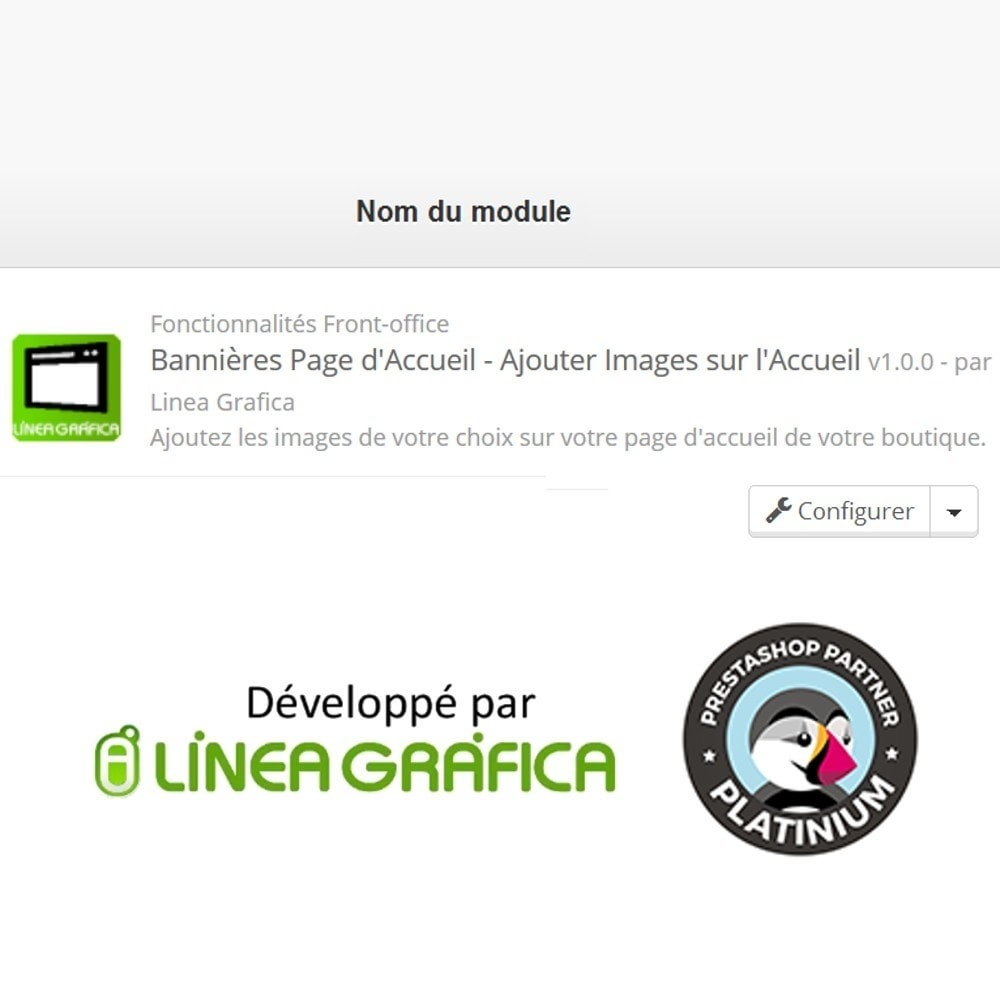 module - Personnalisation de Page - Bannières Page d'Accueil - Ajouter Images sur l'Accueil - 5
