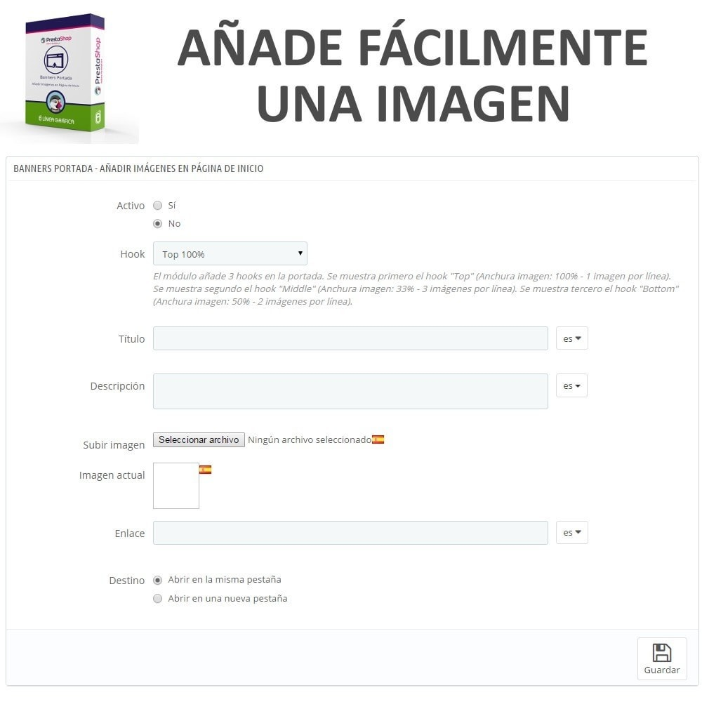 module - Personalización de la página - Banners Portada - Añadir Imágenes en Página de Inicio - 4