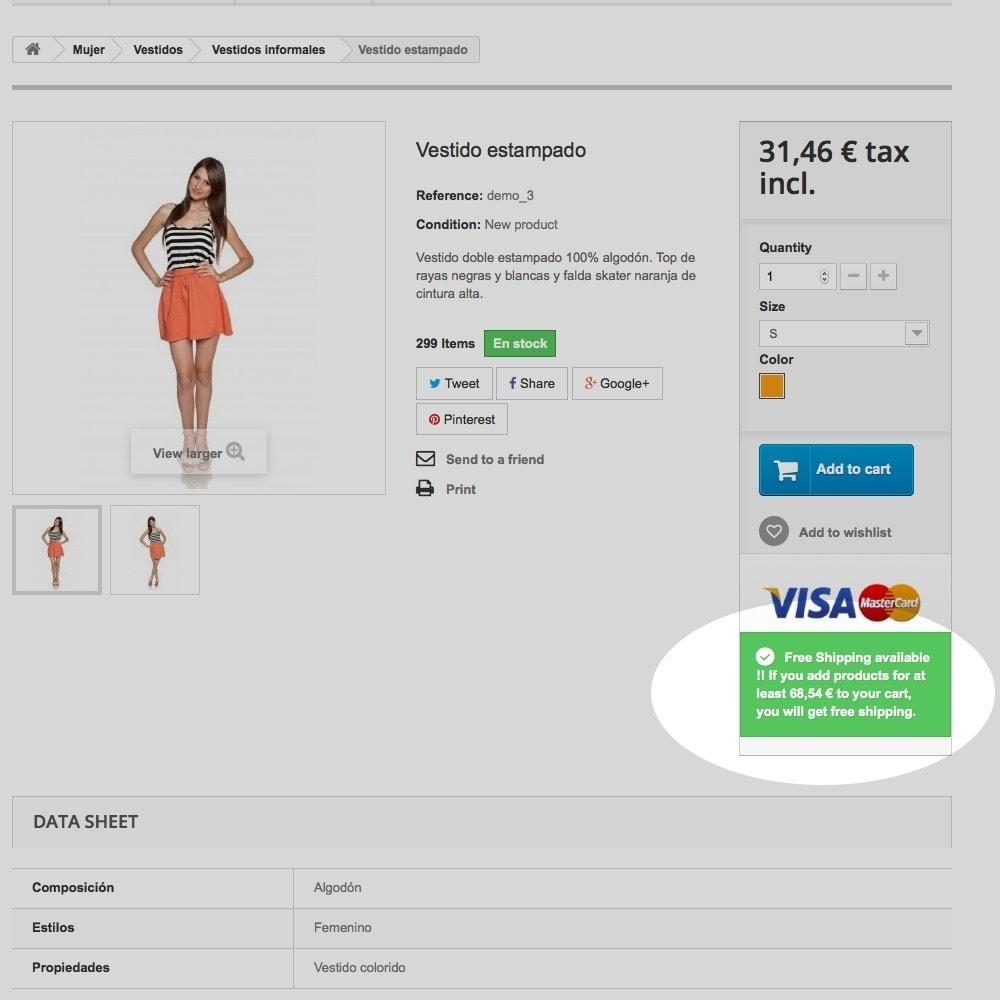 module - Custo de frete - Free shipping info - 4