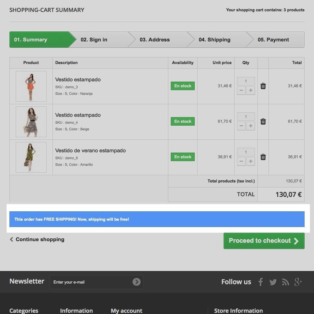 module - Custo de frete - Free shipping info - 8
