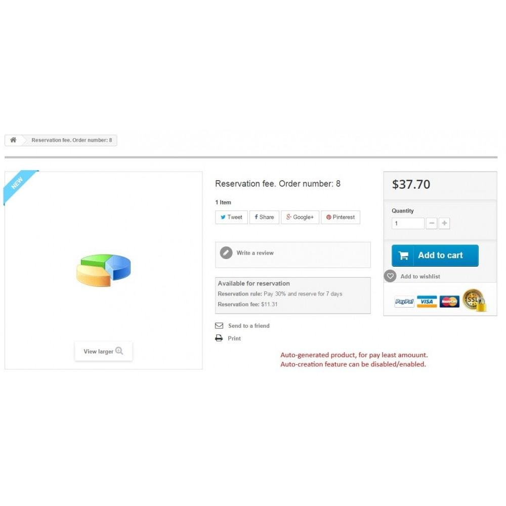 module - Andere betaalmethodes - Reservation fee / Reserve cart / Deposit payment - 14