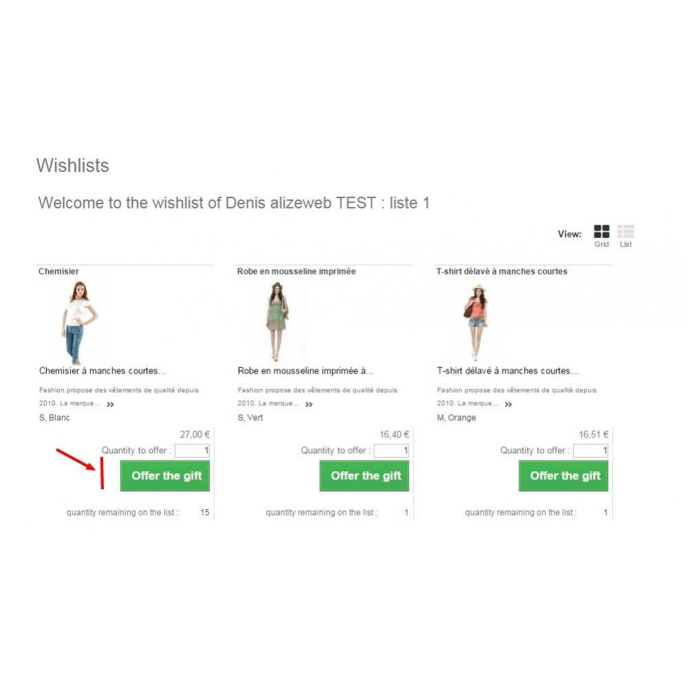 module - Список желаний и Подарочный купон - Wishlist PRO - 2