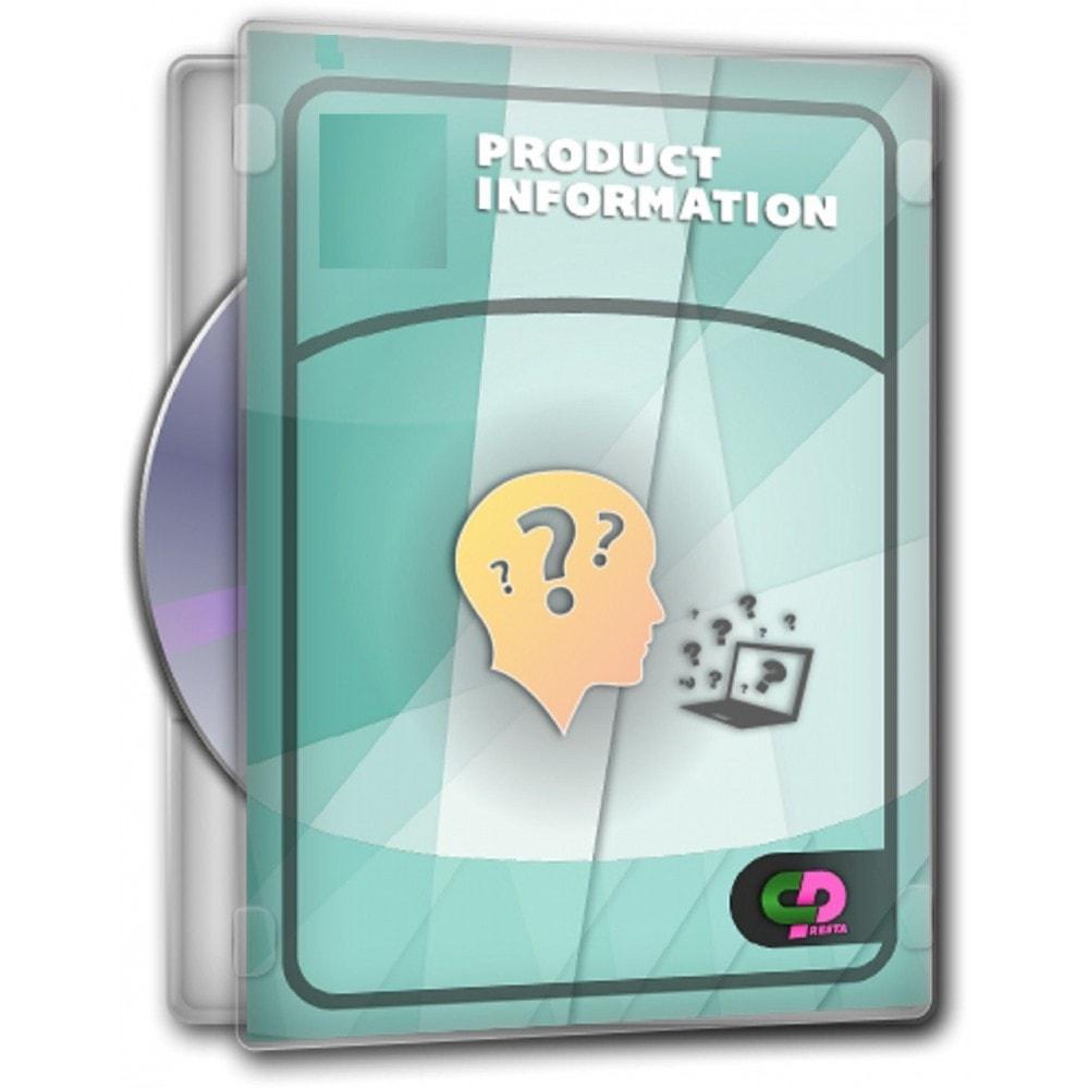 module - Formulaires de Contact & Sondages - Renseignements sur un produit avant achat - 1