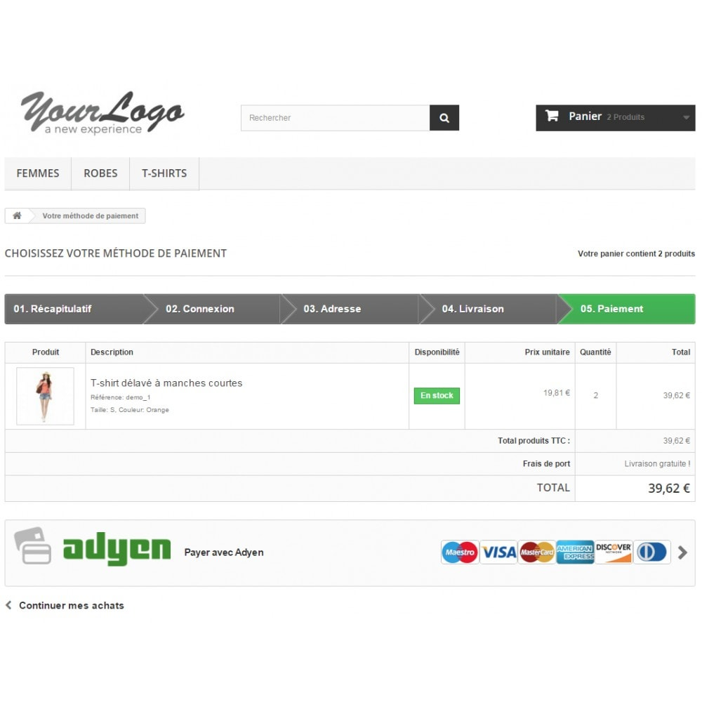 module - Paiement par Carte ou Wallet - Paiement Adyen - 3