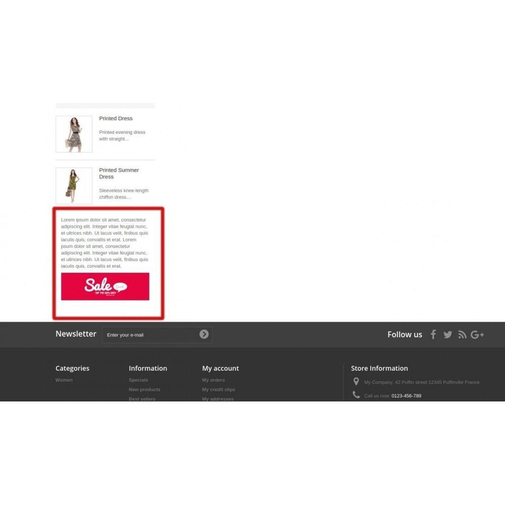 module - Personnalisation de Page - Era Custom Static HTML Blocks Widget - 5