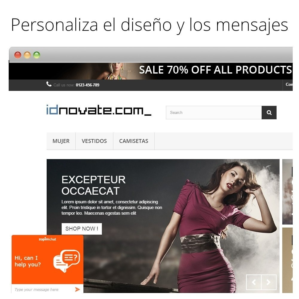 module - Asistencia & Chat online - Chat para Zendesk (Zopim) - Multiidioma, personalizable - 3
