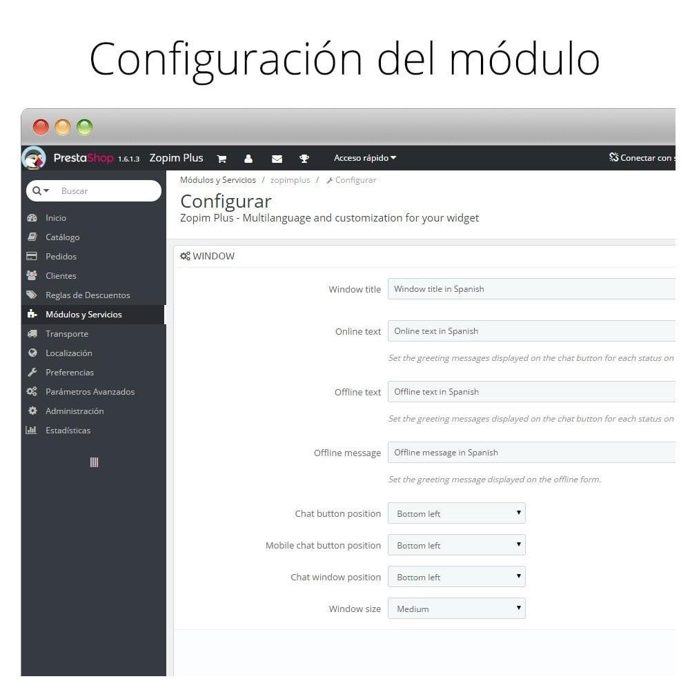 module - Asistencia & Chat online - Zendesk - Zopim - Chat en directo con clientes - 6
