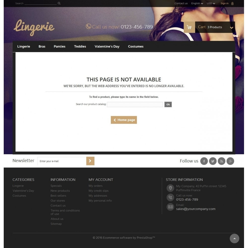 theme - Lenceria y Adultos - Lingerie Store - 9