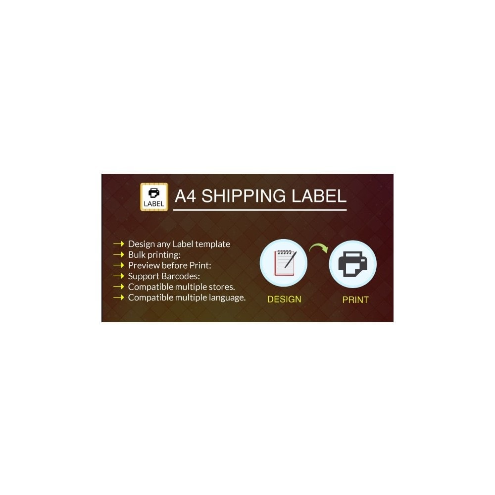 module - Kommissionierung & Versand - A4 Print Shipping Label Pro - 1