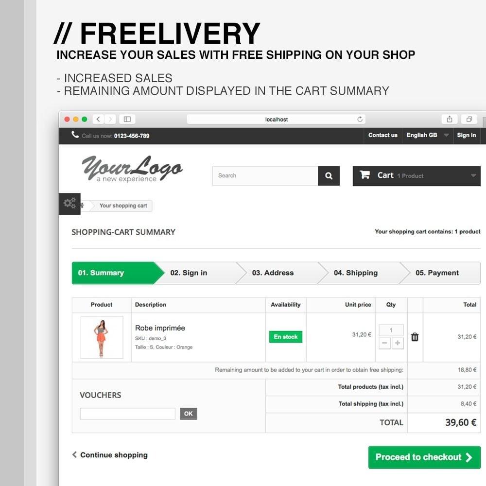 module - Koszty wysyłki - Freelivery : Free delivery - 3