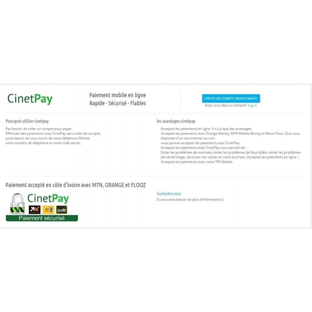 module - Payment by Card or Wallet - CinetPay - 2