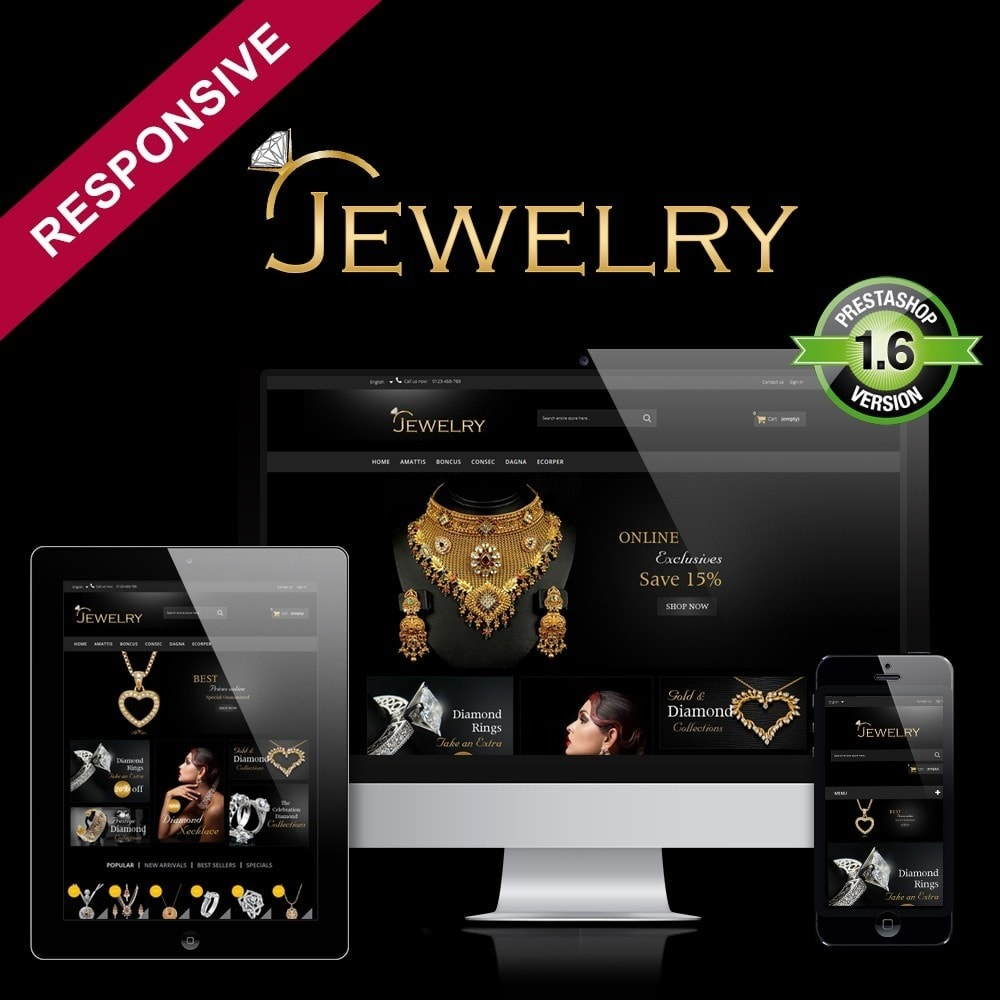 theme - Sieraden & Accessoires - Jewelry Multipurpose HTML5 - 1