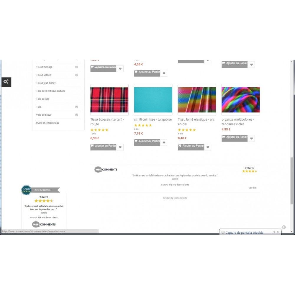 module - Comentarios de clientes - weeComments Opiniones de Clientes, Product Reviews - 8