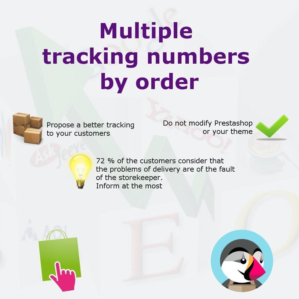 module - Sendungsverfolgung - Add shipping numbers - 1