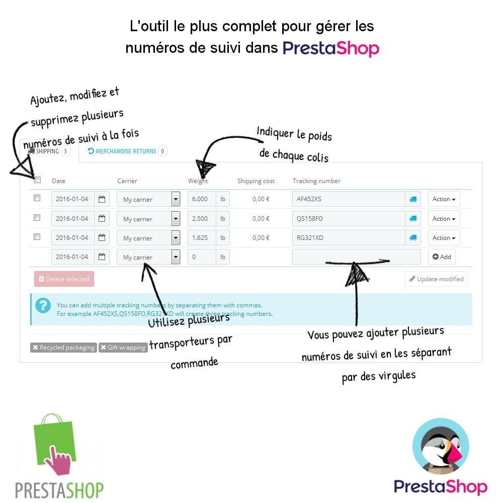 module - Suivi de livraison - Ajouter des numéros de suivi - 2