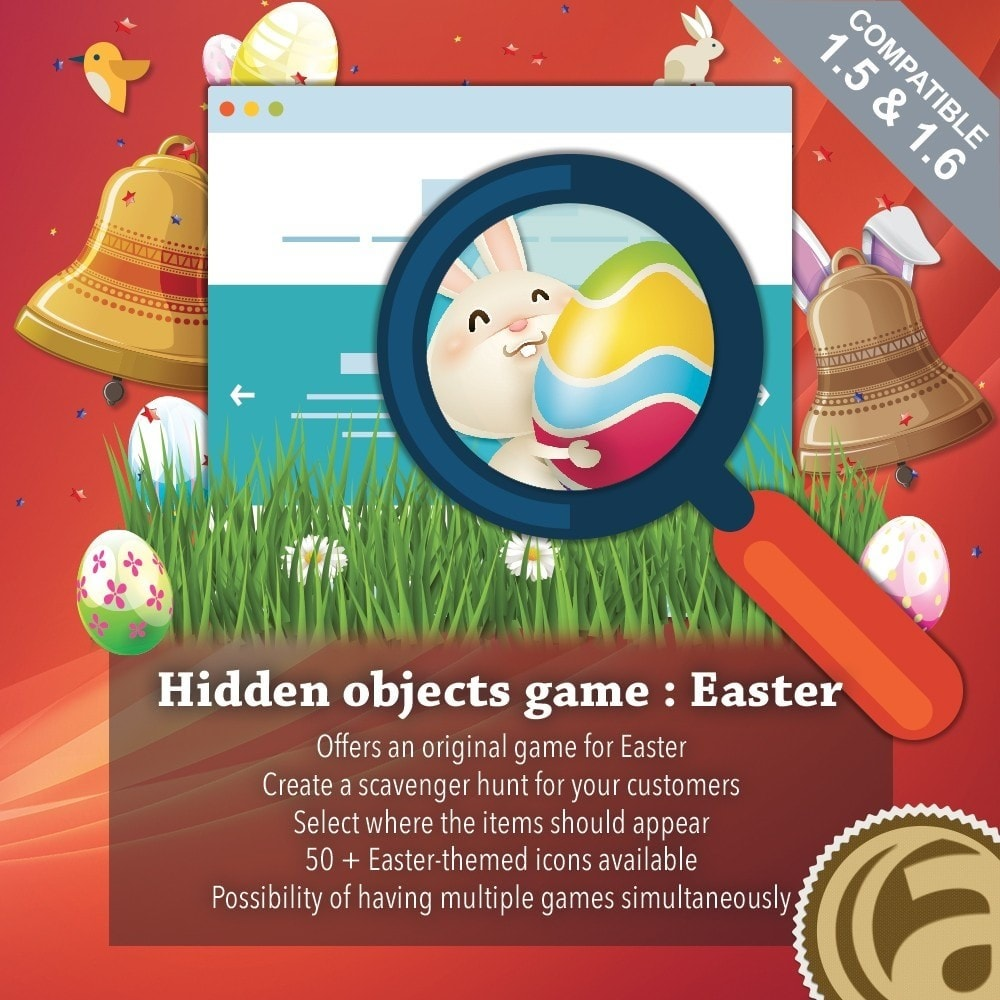 module - Jogos para os Clientes - Hidden objects game : Easter - 1