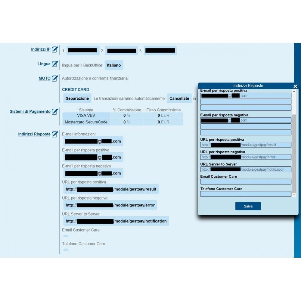 module - Pagamento con Carta di Credito o Wallet - Incasso GestPay di Banca Sella Nuovo Avanzato - 7