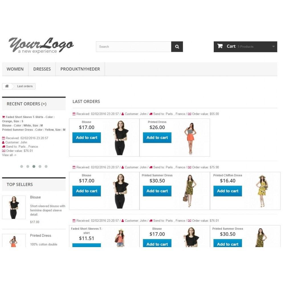 module - Ventas cruzadas y Packs de productos - Last Orders - Mostrar pedidos recientes - 5