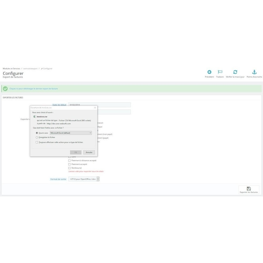 module - Accounting & Invoicing - SW Invoice Export - 2