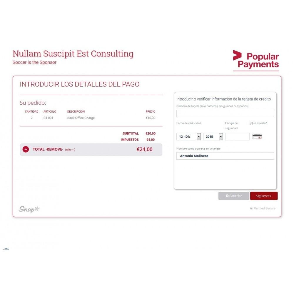 module - Pago con Tarjeta o Carteras digitales - TPV Virtual Snap* por Popular Payments - 2