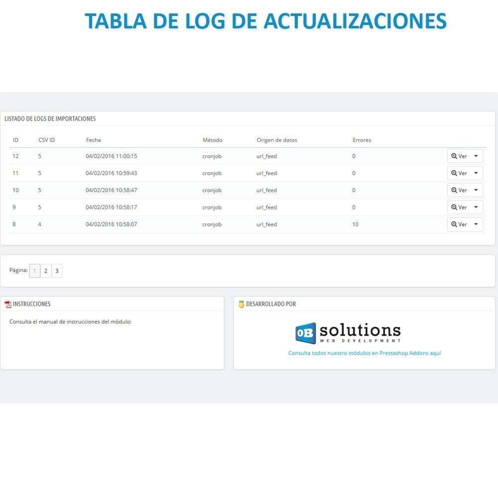 module - Importación y Exportación de datos - Actualizar datos CSV/XML vía URL/FTP cronjob compatible - 4