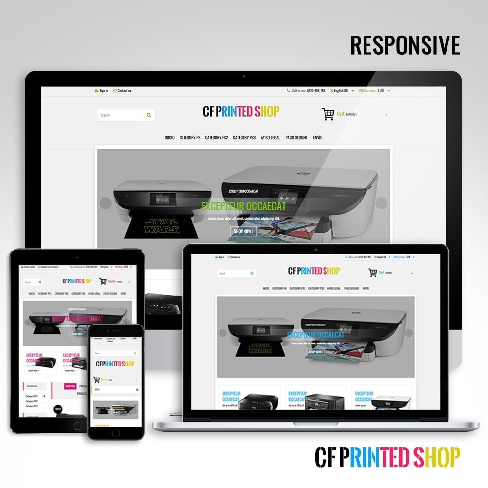 theme - Electrónica e High Tech - CF Printed Shop - 2