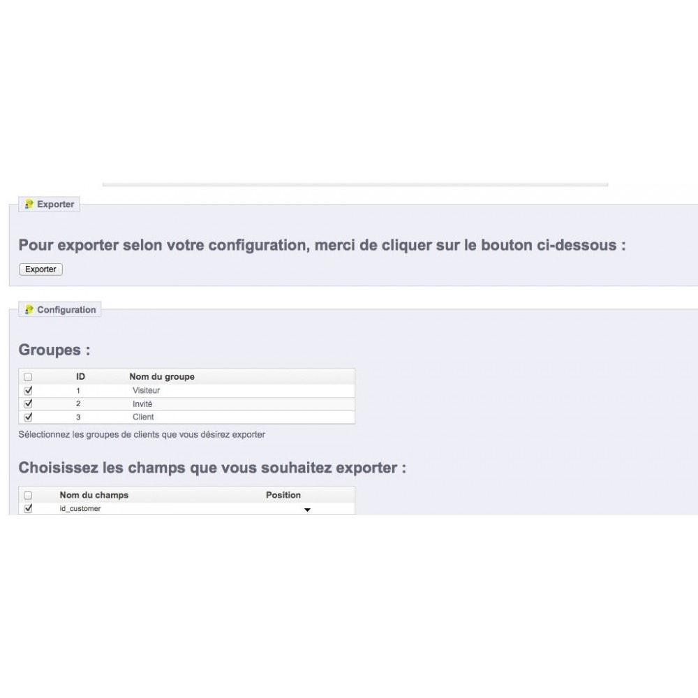 module - Import & Export de données - Export Base Clients - 2