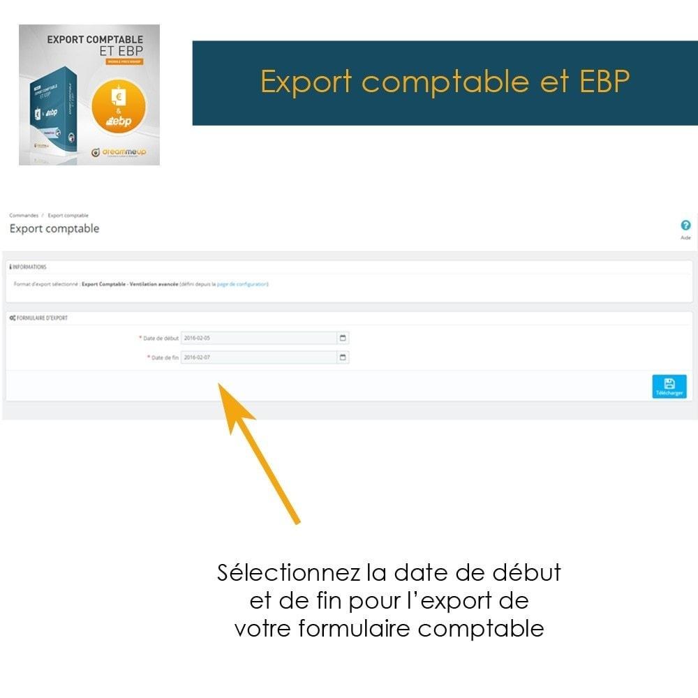 module - Connexion à un logiciel tiers (CRM, ERP...) - DMU Export Comptable CSV ou EBP - 2