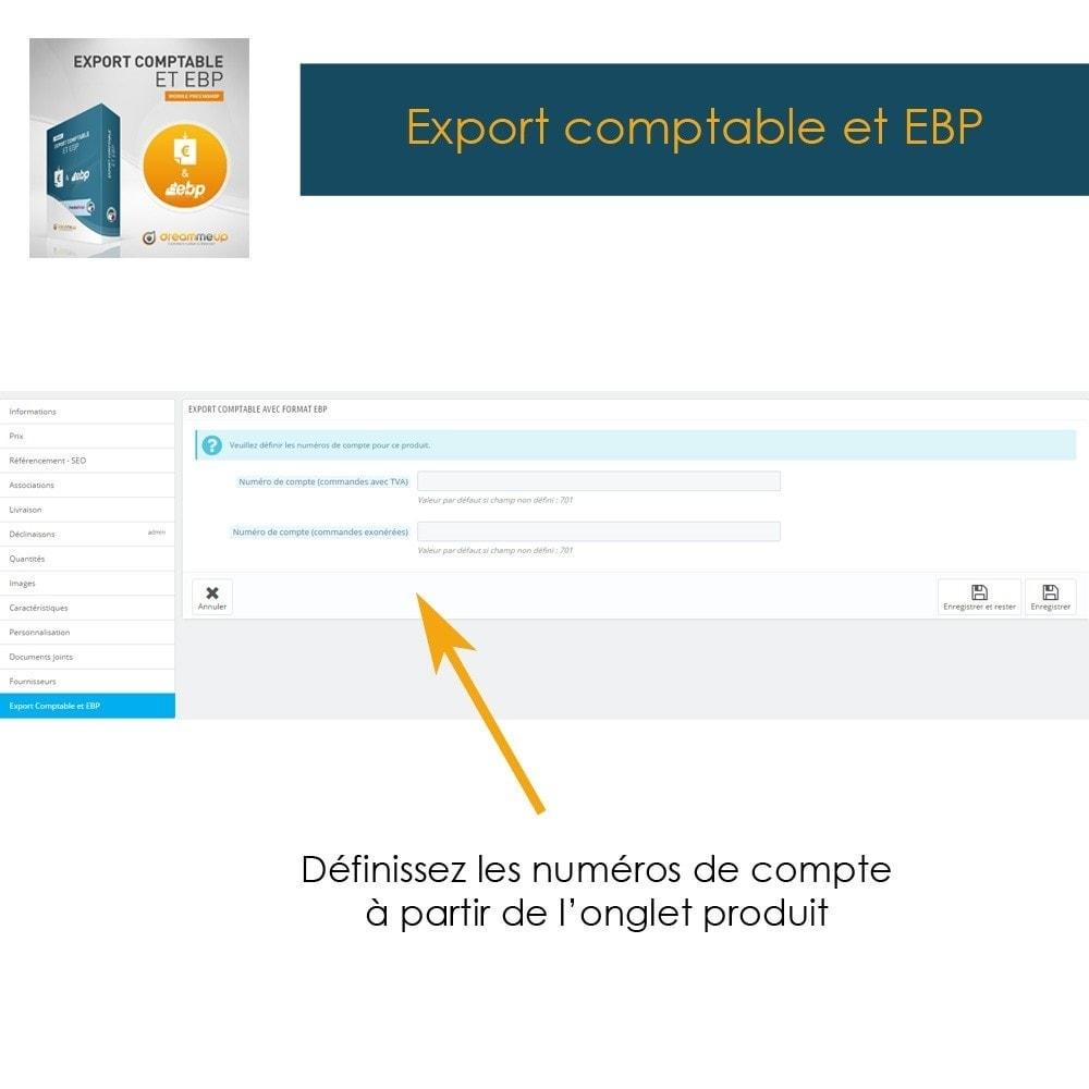 module - Connexion à un logiciel tiers (CRM, ERP...) - DMU Export Comptable CSV ou EBP - 3