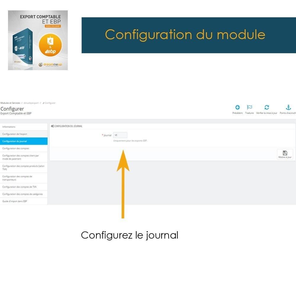 module - Connexion à un logiciel tiers (CRM, ERP...) - DMU Export Comptable et EBP - 7