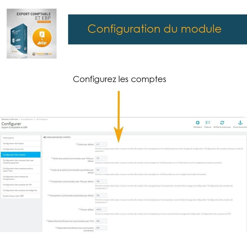 module - Connexion à un logiciel tiers (CRM, ERP...) - DMU Export Comptable CSV ou EBP - 8