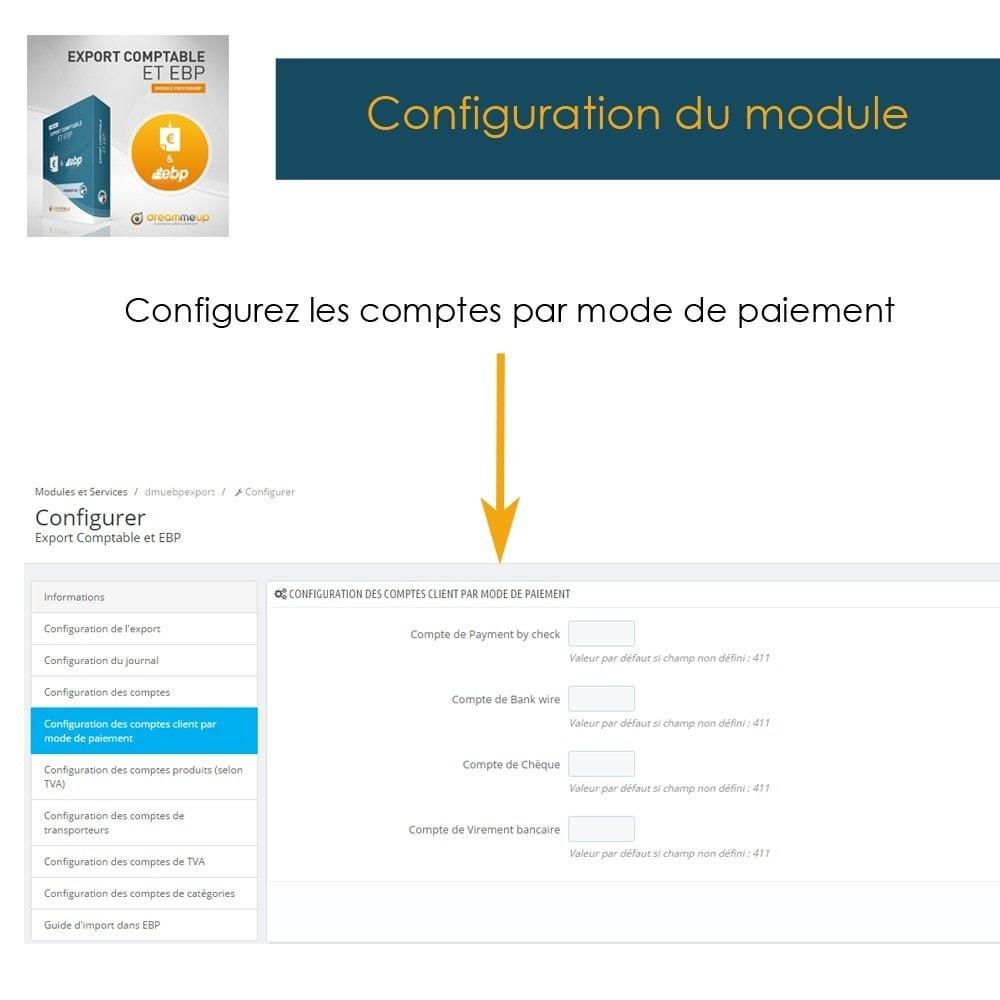 module - Connexion à un logiciel tiers (CRM, ERP...) - DMU Export Comptable et EBP - 9