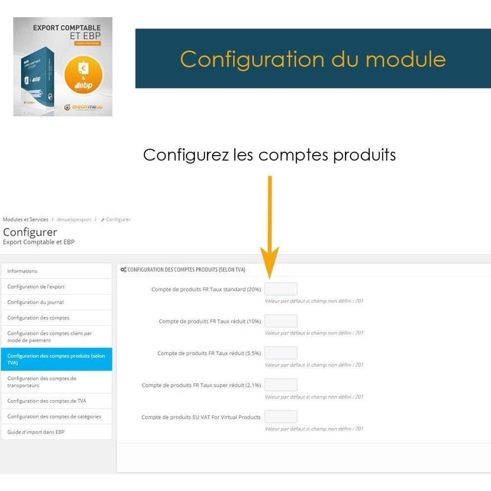 module - Connexion à un logiciel tiers (CRM, ERP...) - DMU Export Comptable et EBP - 10