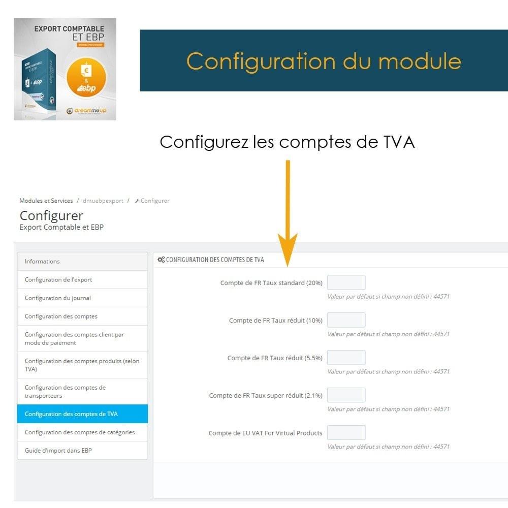 module - Connexion à un logiciel tiers (CRM, ERP...) - DMU Export Comptable CSV ou EBP - 11