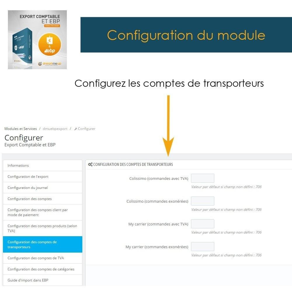 module - Connexion à un logiciel tiers (CRM, ERP...) - DMU Export Comptable et EBP - 12