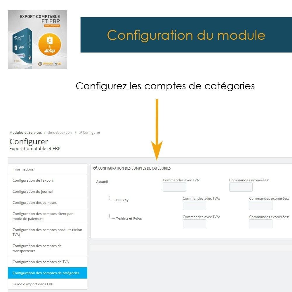 module - Connexion à un logiciel tiers (CRM, ERP...) - DMU Export Comptable et EBP - 13