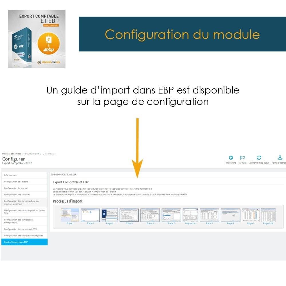 module - Connexion à un logiciel tiers (CRM, ERP...) - DMU Export Comptable CSV ou EBP - 14