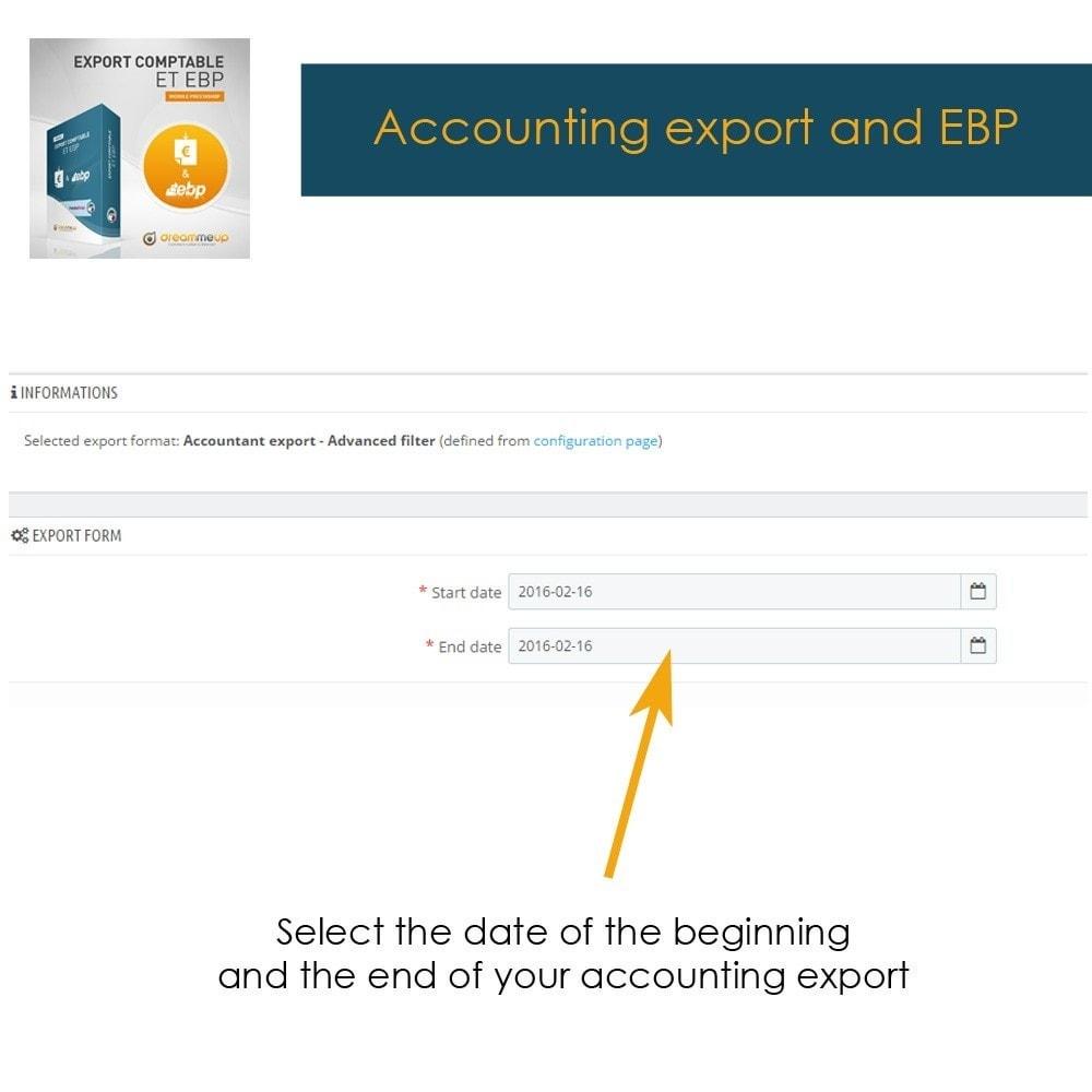 module - Integracja z programami stron trzecich (CRM, ERP...) - DMU Export Accounting CSV or EBP - 2