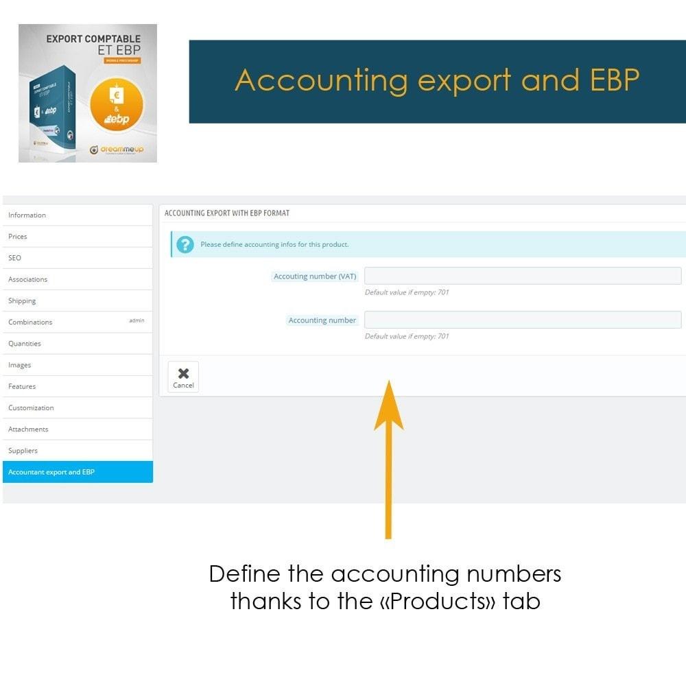 module - Integracja z programami stron trzecich (CRM, ERP...) - DMU Export Accounting CSV or EBP - 3