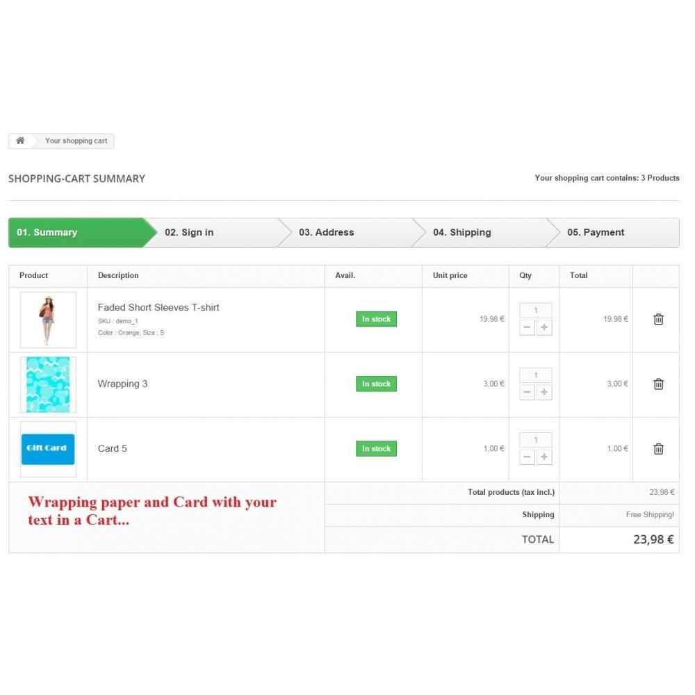 module - Iscrizione e Processo di ordinazione - Gift wrapping with greeting card - 2