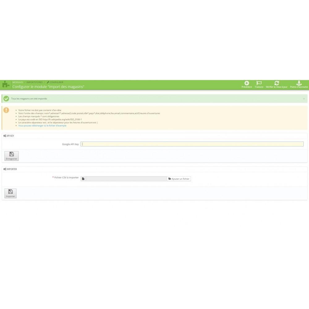 module - Import & Export de données - Import des magasins - 3