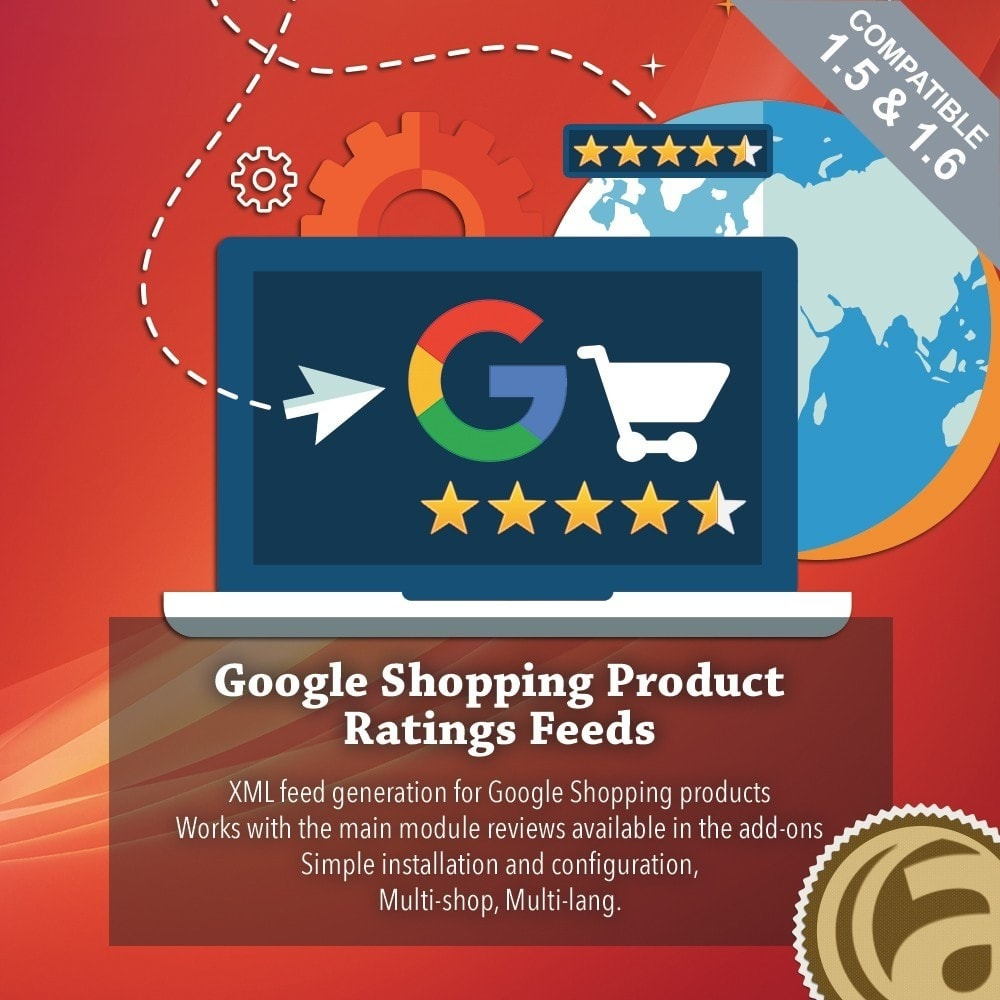 module - Recensioni clienti - Google Shopping Product Ratings Feeds - 1