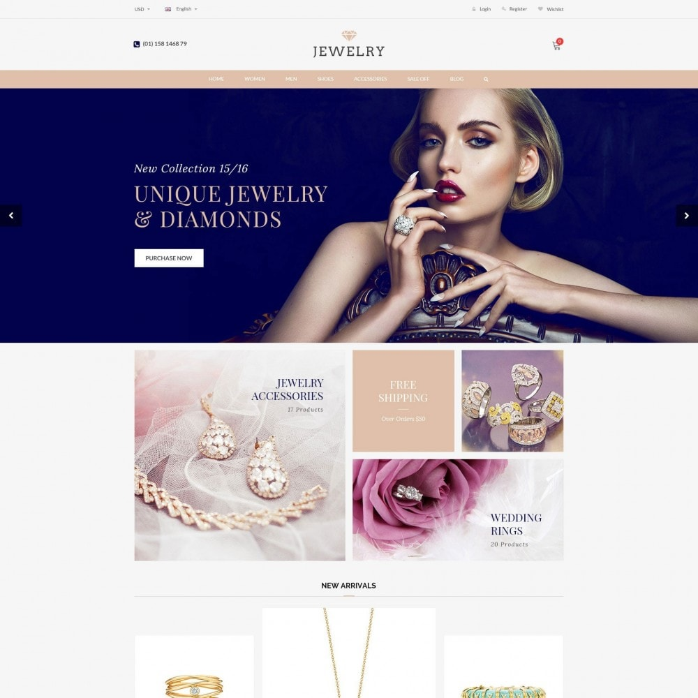 theme - Jewelry & Accessories - Beauty & Jewelry Responsive Store - Amazing - 2