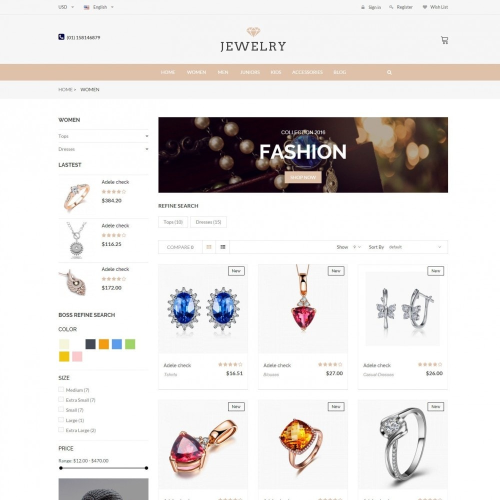 theme - Jewelry & Accessories - Beauty & Jewelry Responsive Store - Amazing - 3