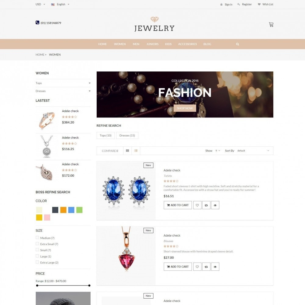 theme - Jewelry & Accessories - Beauty & Jewelry Responsive Store - Amazing - 4