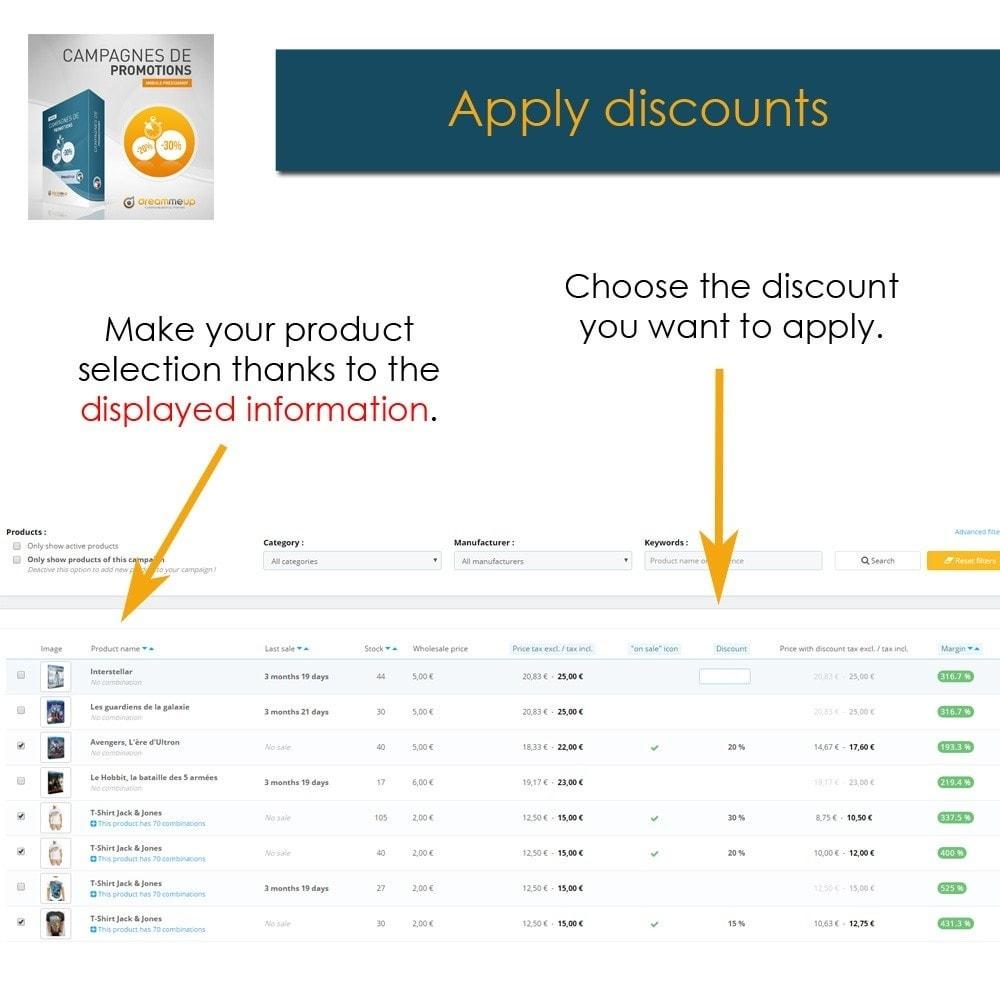 module - Promotion & Geschenke - DMU Discount campaigns - 3